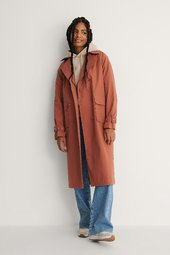 Na-kd Trend Trenchcoat - Pink