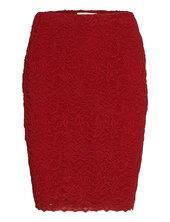 Skirt Kort Nederdel Rød Rosemunde
