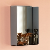 Mirror Box Med Spejl - Grå