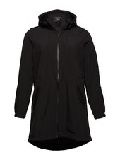 Softshell Jacket Waterproof Soft And Warm Parkacoat Jakke Sort Zizzi