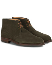 Crockett & Jones Chiltern Dainite Chukka Boot Green Suede