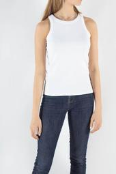 Katy Rib Tank Top - White - Bruuns Bazaar - Hvid Xl