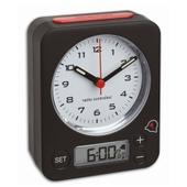 Radiostyret Vækkeur Med Digital Alarm - Combo