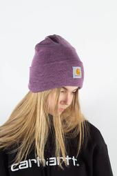 Acrylic Watch Hat - Aster Heather - Carhartt - Lilla One Size
