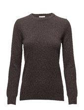 Basic Sweater Strikket Trøje Brun Davida Cashmere