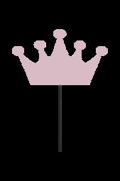 Væglampe Crown Rosa