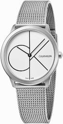 Calvin Klein Minimal Dameur K3m5215x Hvid/stål Ø35 Mm