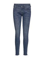Lynn Mid Skinny Wmn New Skinny Jeans Blå G-star Raw