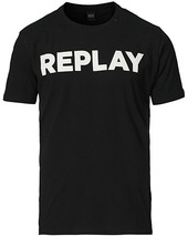 Replay Crew Neck Logo Tee Black
