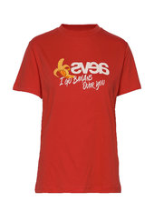 Everyday Tee - I Go Bananas T-shirt Top Rød Svea