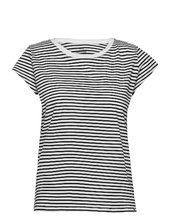 Organic Favorite Stripe Teasy T-shirt Top Sort Mads Nørgaard