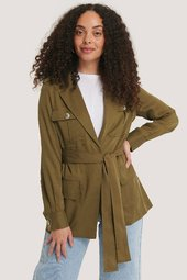 Mango Trenchcoat - Green