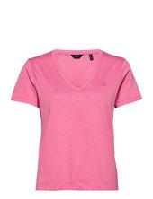 Original V-neck Ss T-shirt T-shirt Top Lyserød Gant