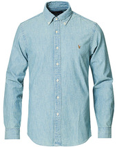Polo Ralph Lauren Slim Fit Chambray Shirt Washed