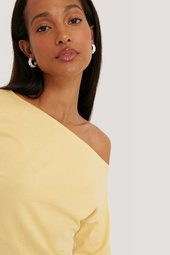 Na-kd Økologisk Off Shoulder Langærmet Top - Yellow