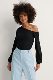 Na-kd Party Asymmetrisk Off-shoulder-top - Black