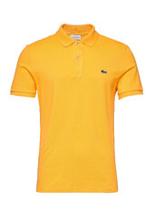 Men S S/s Polo Slim Fit Polos Short-sleeved Gul Lacoste