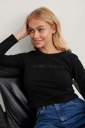 Calvin Klein Crop T-shirt - Black