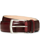 Loake 1880 Henry Leather Belt 3,3 Cm Burgundy
