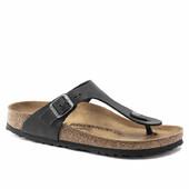 Birkenstock Sandaler, Gizeh Oiled, Black