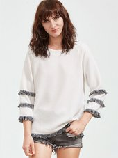 Casual Hvid Bluse