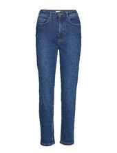 Astridgz Hw Slim Jeans Noos Jeans Mom Jeans Blå Gestuz