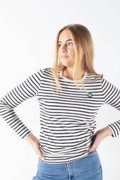 Moa Long Sleeve - Striped - Wood Wood - Stribet M