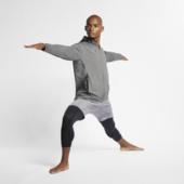 Nike Dri-fit-yogatræningshættetrøje Med Lynlås Til Mænd - Black