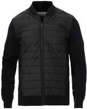 Barbour International Baffle Zip Through Sweater Black
