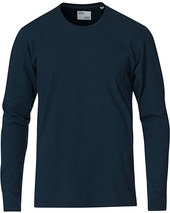 Colorful Standard Classic Organic Long Sleeve T-shirt Navy Blue