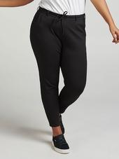 Zizzi Klassisk Udseende Jersey Bukser I Sort, 54-56 / Xl