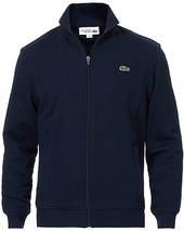 Lacoste Full Zip Sweater Navy Blue