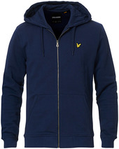Lyle & Scott Zip Through Hodded Sweatshirt Navy