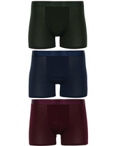 Cdlp 3-pack Boxer Briefs Army Green/navy Blue/burgundy