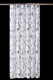 Birch Badeforhæng Hvid/sort