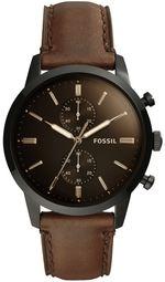 Fossil Townsman Herreur Fs5437 Sort/læder Ø44 Mm