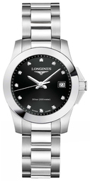 Longines Conquest Dameur L3.376.4.57.6 Sort/stål Ø30 Mm