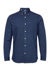 Slhregrick-denim Shirt Ls U Skjorte Casual Blå Selected Homme