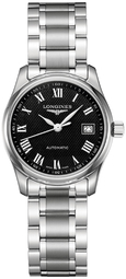 Longines Master Dameur L2.257.4.51.6 Sort/stål Ø29 Mm
