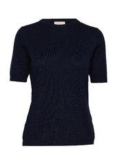 Pamela Knit Tee T-shirt Top Sort Minus
