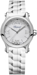 Chopard Happy Sport Dameur 278590-3001 Hvid/gummi Ø30 Mm
