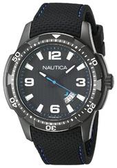 Nautica Analog Herreur Nai13511g Sort/gummi Ø43 Mm