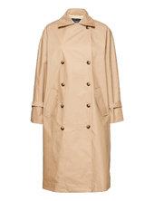 Slohio Trench Coat Trenchcoat Frakke Beige Soaked In Luxury