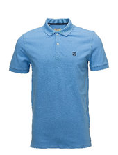 Shdaro Ss Embroidery Polo Noos Polos Short-sleeved Blå Selected Homme