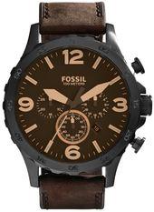 Fossil Nate Herreur Jr1487 Brun/læder Ø50 Mm