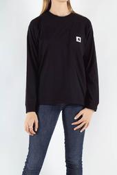 W' L/s Pocket T-shirt - Black - Carhartt - Sort Xs