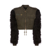 Audrey Tritto Capsule Cropped Jacket With Removable Bolero