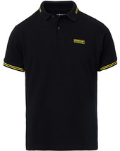 Barbour International Essential Tipped Polo Black
