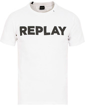 Replay Crew Neck Logo Tee White