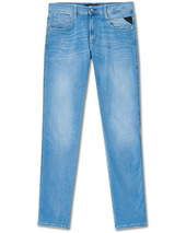 Replay Anbass Hyperflex Re-used Jeans  Light Blue